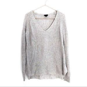 {Theory} Oversized 100% Cashmere V-Neck Sweater S